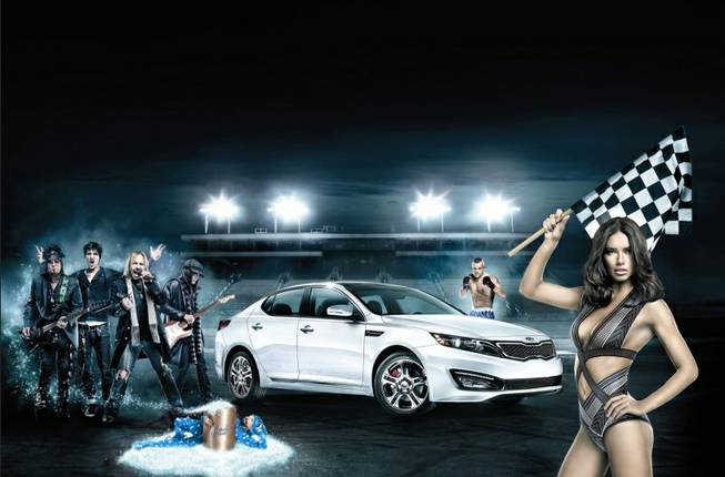 Kia Super Bowl commercial featuring Motley Crue and supermodel Adriana Lima.
