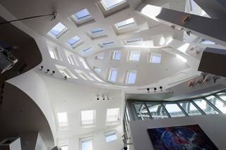 A view looking upward at the events center at the Cleveland Clinic Lou Ruvo Center for Brain Health Monday, February 6, 2012.