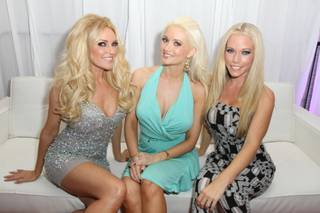 Super Bowl XLVI's Leather and Laces Party in Indianapolis with Bridget Marquardt, Holly Madison and Kendra Wikinson-Baskett.