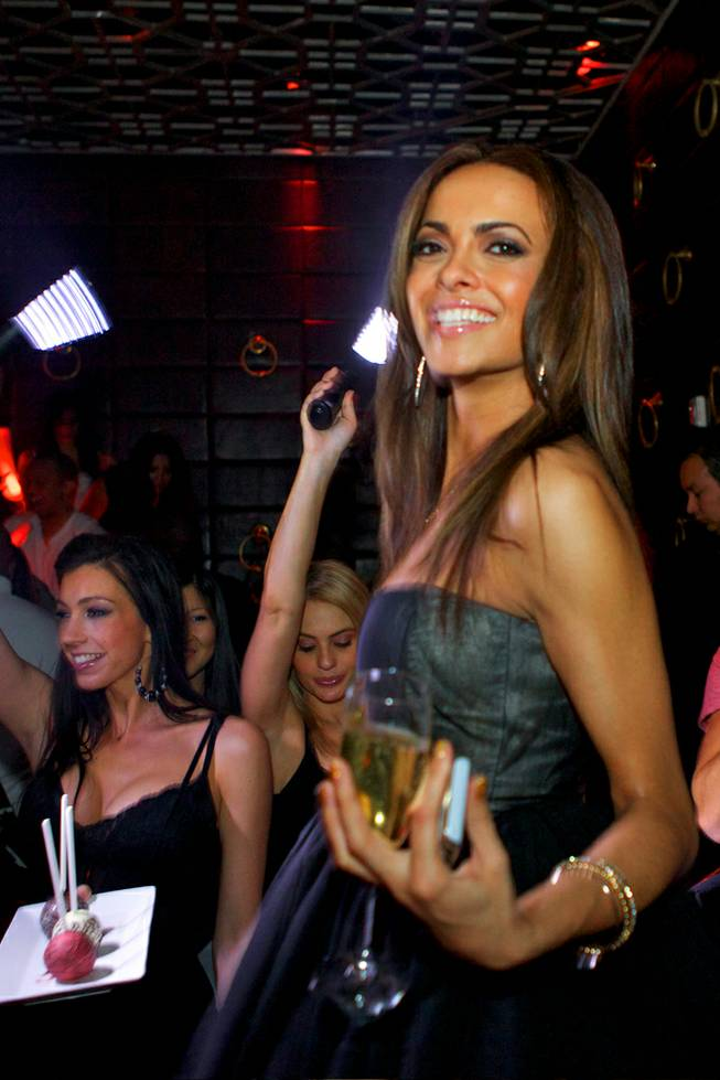 2012 Miss Nevada USA Jade Kelsall celebrates her 26th birthday at Lavo in the Palazzo on Tuesday, Feb. 7, 2012.