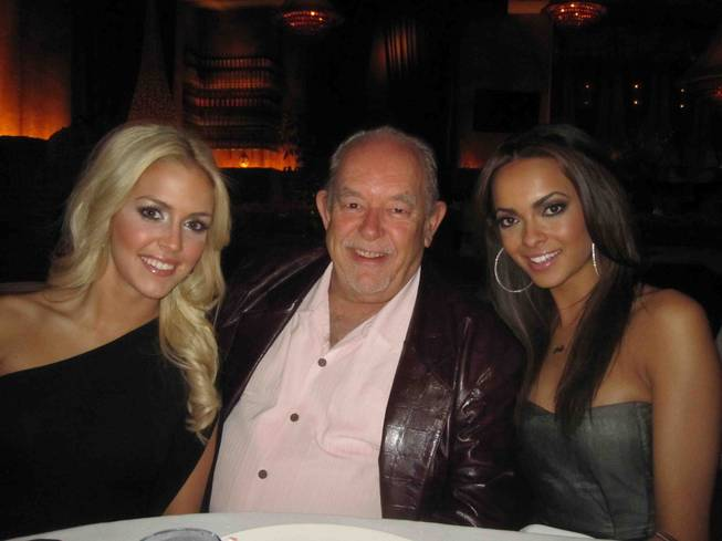 2012 Miss Nevada Teen USA Katie Eklund, Robin Leach and 2012 Miss Nevada USA Jade Kelsall celebrates Kelsall's 26th birthday at Lavo in the Palazzo on Tuesday, Feb. 7, 2012.