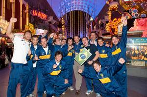 2012 USA Sevens Rugby: Parade of Nations at Fremont Street Experience