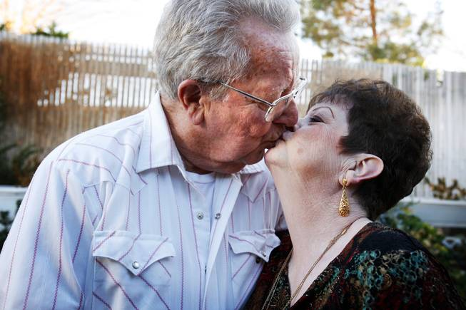 Dick and Mary Hansen at their home in Las Vegas on Thursday, Feb. 9, 2012.