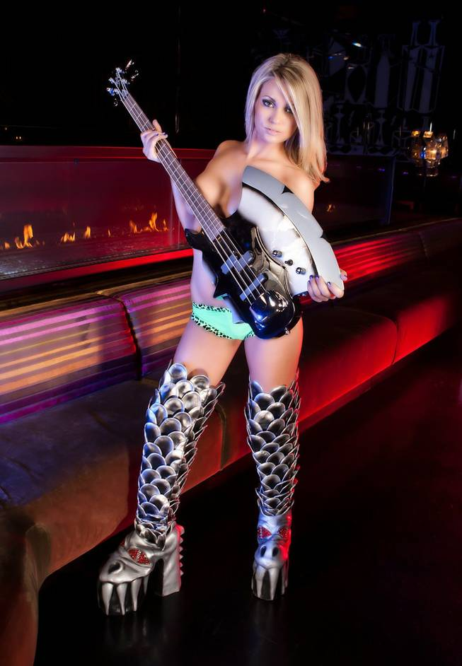 Angel Porrino in KISS boots.