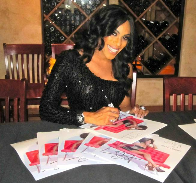 """Peepshow"" star Cheaza at her 2012 calendar signing at Pampas in Planet Hollywood on Wednesday, Feb. 8, 2012."