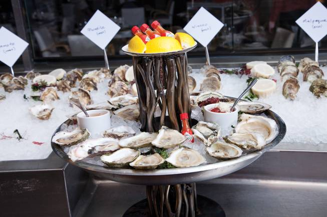 The oysters at the Lakeside at Wynn Las Vegas.