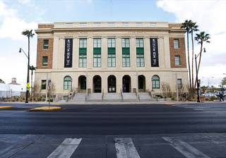 A exterior view of the Mob Museum in downtown Las Vegas Monday, Feb. 13, 2012. The museum, in a renovated former federal courthouse and U.S. Post Office, will have its grand opening Tuesday. The building was completed in 1933 and is listed on the Nevada and National Registers of Historic Places. It is also one of 14 sites in the nation that hosted the 1950-51 U.S. Senate Special Committees to investigate Crime in Interstate Commerce, also known as the Kefauver hearings.
