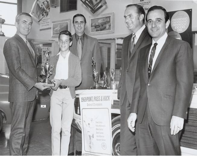 Blake Sartini pictured with Lt. Governor Ed Fike, Harvey Schnitzer, Don Ackerman and former state senator Chic Hecht in this 1969 image.