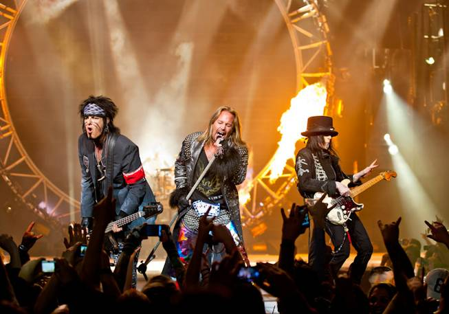 Motley Crue at the Joint in the Hard Rock Hotel on Wednesday, Feb. 15, 2012.