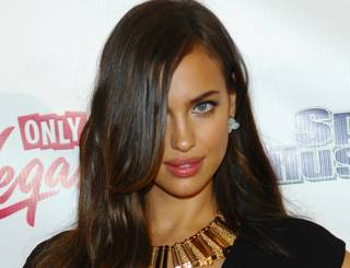 2012 Sports Illustrated Swimsuit Issue model Irina Shayk arrives at Haze in Aria on Wednesday, Feb. 15, 2012.