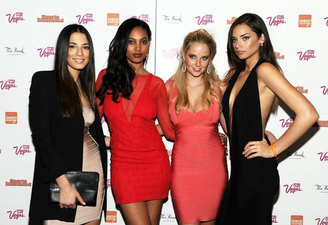 Jessica Gomes, Ariel Meredith, Genevieve Morton and Michelle Vawer arrive ...