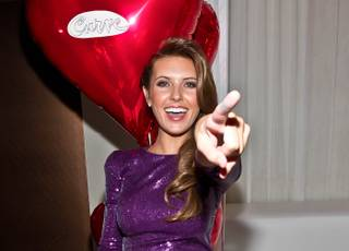 Audrina Patridge promotes Curve Appeal for Men at Pure in Caesars Palace on Saturday, Feb. 18, 2012.