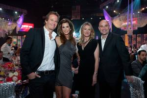"Rande Gerber, Cindy Crawford, Stefanie Graf and Andre Agassi at the 2012 Keep Memory Alive ""Power of Love Gala"" tribute to Muhammad Ali's 70th birthday at MGM Grand Garden Arena on Saturday, Feb. 18, 2012."