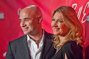 "Andre Agassi and Steffi Graf on the red carpet for the 2012 Keep Memory Alive ""Power of Love Gala"" tribute to Muhammad Ali's 70th birthday at MGM Grand Garden Arena on Saturday, Feb. 18, 2012."