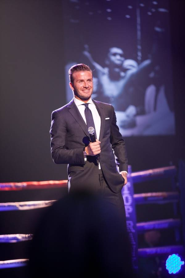 "David Beckham at the 2012 Keep Memory Alive ""Power of Love Gala"" tribute to Muhammad Ali's 70th birthday at MGM Grand Garden Arena on Saturday, Feb. 18, 2012."