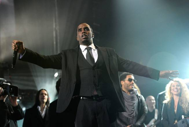 "LAS VEGAS, NV - FEBRUARY 18:  (EXCLUSIVE COVERAGE)  Recording artist Sean ""Diddy"" Combs speaks onstage at the Keep Memory Alive foundation's ""Power of Love Gala"" celebrating Muhammad Ali's 70th birthday at the MGM Grand Garden Arena February 18, 2012 in Las Vegas, Nevada. The event benefits the Cleveland Clinic Lou Ruvo Center for Brain Health and the Muhammad Ali Center.  (Photo by Ethan Miller/Getty Images for Keep Memory Alive)"