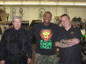 Richard Harrison, Shaun Phillips and Corey Harrison at Gold & Silver Pawn.