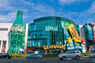 An exterior view of GameWorks on the Las Vegas Strip, Wednesday Feb. 22, 2012.