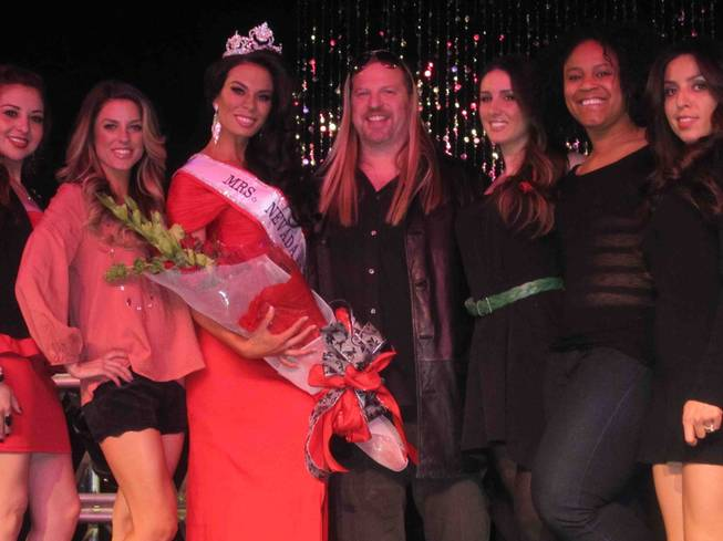 The 2012 Mrs. Nevada America Pageant at Suncoast on Sunday, Feb. 26, 2012. Michael Boychuck is flanked by winner Krista Jelowsky and others.