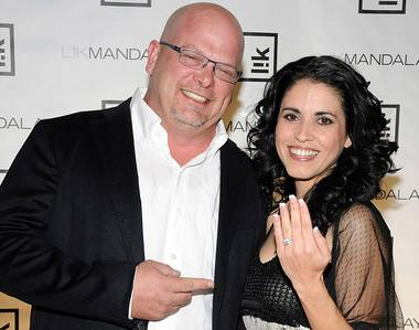 Rick Harrison and DeAnna Burditt at the Peter Lik Gallery grand opening at Mandalay Place on Saturday, Feb. 25, 2012.