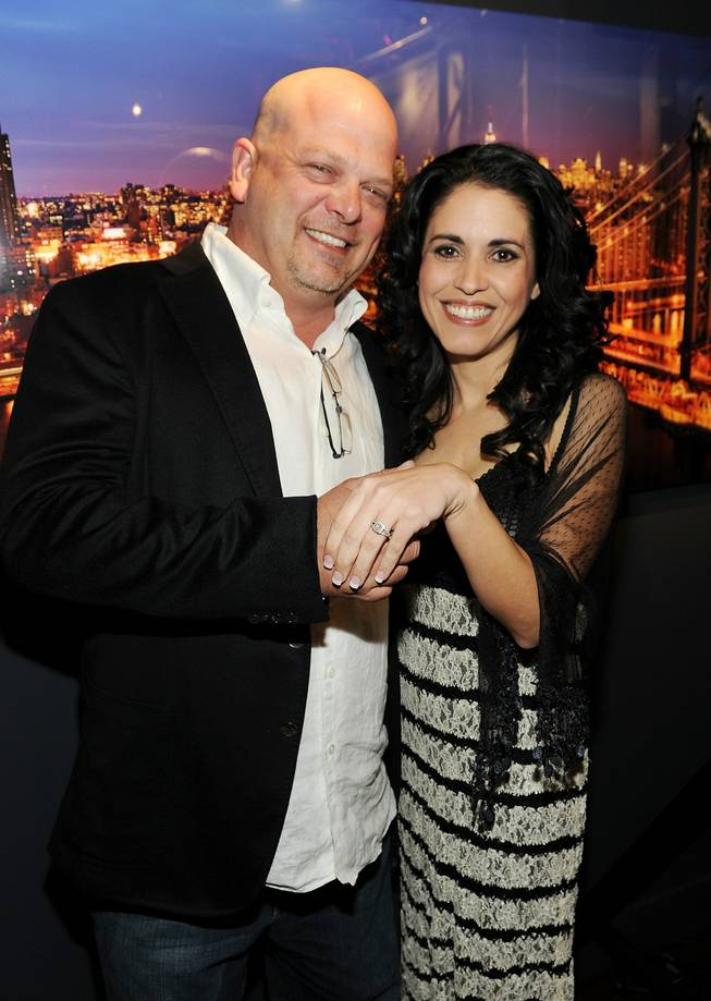 Newly engaged Rick Harrison and his fiancee DeAnna Burditt at the grand opening of Peter Lik Gallery in Mandalay Place on Saturday, Feb. 25, 2012.