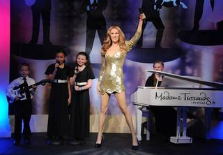 Celine Dion's wax figure unveiling with Clark County Children's Choir at Madame Tussauds Las Vegas on Wednesday, Feb. 29, 2012.