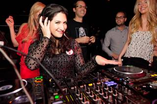 Randi Zuckerberg's 30th birthday at Rick Faugno's show in the Lounge and at Moon, both at the Palms, on Tuesday, Feb. 28, 2012.