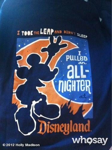 Holly Madison's T-shirt at Disneyland on Leap Day 2012.