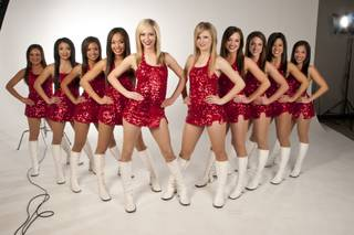 The UNLV Rebel Girls pose in the studio, Thursday March 1, 2012.