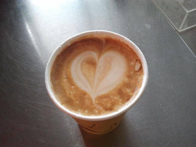 Grouchy Johns' San Francisco Latte -- they left their heart it in. Get it?