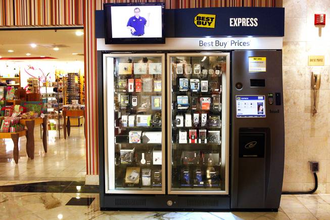 The Best Buy Express vending machine inside the Flamingo in Las Vegas on Wednesday, March 7, 2012.