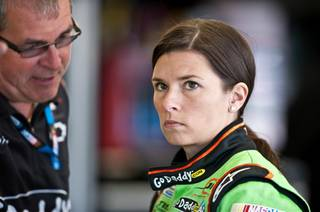 Danica Patrick at Las Vegas Motor Speedway on Friday, March 9, 2012.