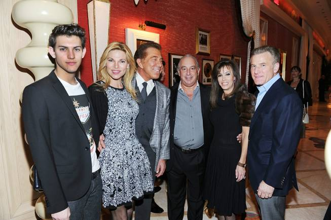 Nick Hissom, Andrea Wynn, Steve Wynn, Sir Philip Green, Sheryl Goldstein and Rob Goldstein at the TopShop/TopMan celebration at Sinatra in the Encore on Wednesday, March 7, 2012.