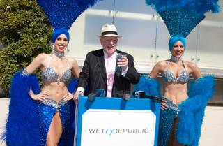 Oscar Goodman kicks off the 2012 pool season at Wet Republic at MGM Grand on Friday, March 9, 2012.