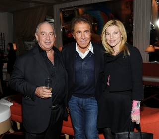 Sir Philip Green, Steve Wynn and Andrea Wynn at the TopShop/TopMan Las Vegas dinner at Lakeside in the Wynn on Thursday, March 8, 2012.