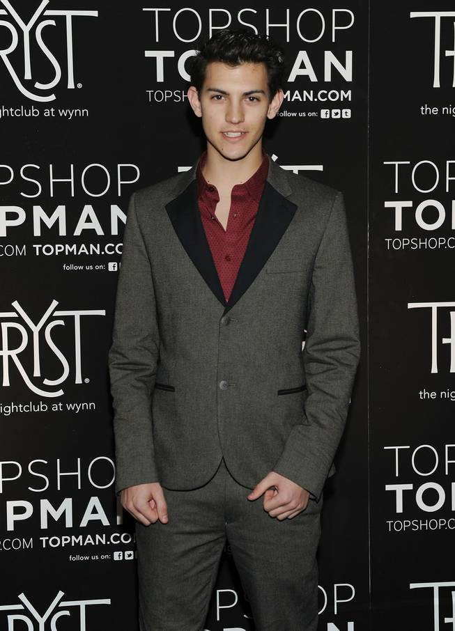 Nick Hissom arrives at the TopShop/TopMan Las Vegas party at Tryst in the Wynn on Thursday, March 8, 2012.