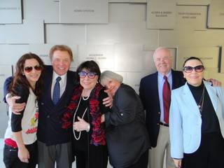 Steve Lawrence and Eydie Gorme, Charlene and Tim Conway and Judy Tannen at the Honor Wall at the Cleveland Clinic Lou Ruvo Center for Brain Health on Wednesday, March 13, 2013. At left is Tim and Charlene Conway's daughter Jackie.
