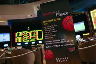 The Sports Book at Caesar's Palace is shownTuesday March 13, 2012.
