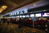 The Long Bar at The D Las Vegas Hotel and Casino, which caters to sports entusiasts wih its 15 mounted flat screen TVs Tuesday March 13, 2012.