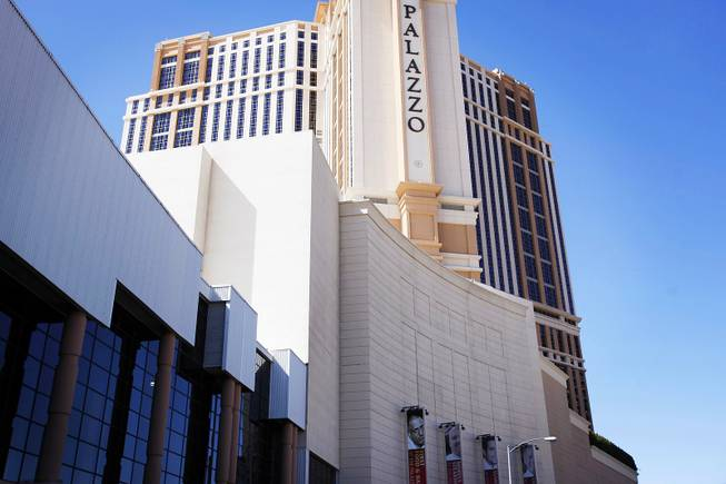 The Venetian/Palazzo Congress Center seen from the exterior in Las Vegas on Tuesday, March 13, 2012.