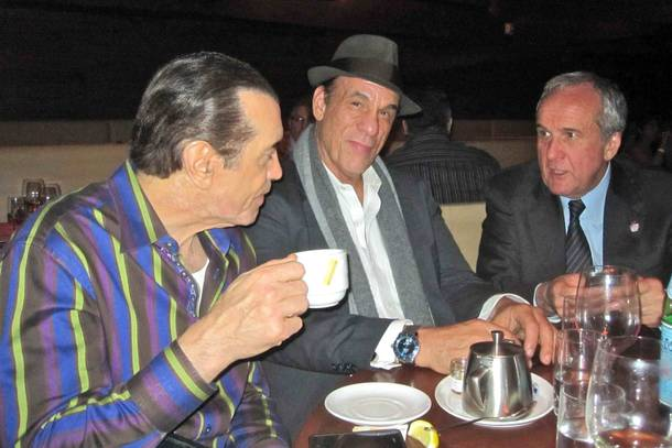 Chazz Palminteri, Robert Davi and Larry Ruvo on Monday, March 12, 2012.