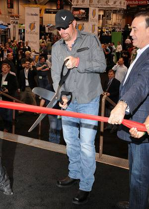 Toby Keith cuts the ribbon to officially open the Nightclub & Bar Convention at the Las Vegas Convention Center on Tuesday, March 13, 2012.
