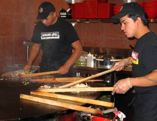 Mongolian stir-fry chain Genghis Grill opened its first valley location in Henderson at 550 North Stephanie St. between Warm Springs Road and Sunset Road.