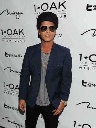 Bruno Mars at One of a Kind Tuesdays at 1 OAK in the Mirage on Tuesday, March 13, 2012.