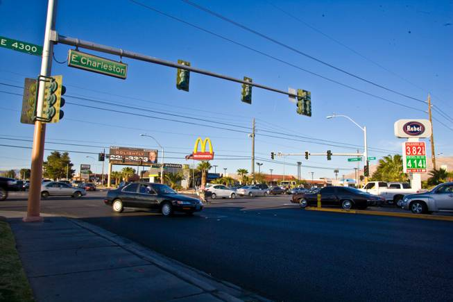 The intersection of Charleston Boulevard and Lamb Boulevard on Thursday, March 15, 2012.