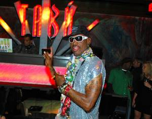 Dennis Rodman Hosts St. Patrick's Day at Tabu