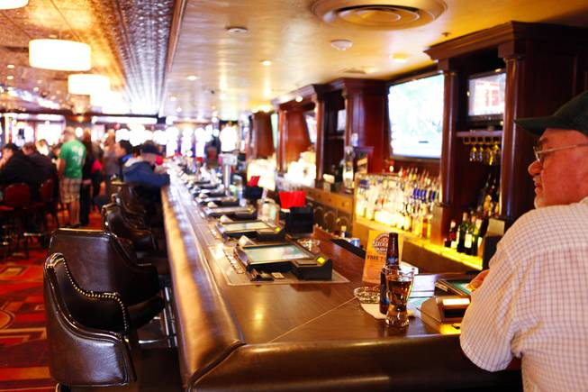 The bar inside the Golden Gate Hotel where the Rat Pack used to hang out in downtown Las Vegas on Monday, March 19, 2012.