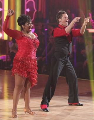 Las Vegas resident Gladys Knight and pro partner Tristan MacManus on Episode 1 of Season 14 of ABC's