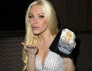 Crystal Harris hosts at Crazy Horse III in Las Vegas on Friday, March 16, 2012.
