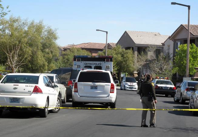 Metro Police said a resident fatally shot an intruder in his backyard Tuesday, March 20, 2012. The incident happened at 9:25 a.m. in the 2100 block of Spurs Court, a residential neighborhood near Hualapai Way and Sahara Avenue.